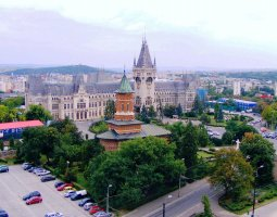 Iasi architecture, Romania, Palace of Culture from the sky