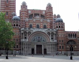 London Architecture, United Kingdom, Westminster, Catholic Cathedral, frontview