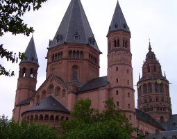 Mainz Cathedral, Germany, View of the towers