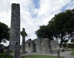 Monasterboice, Ireland, High Cross and Round Tower