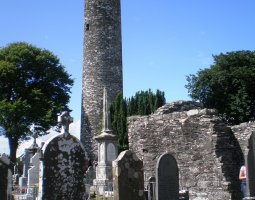 Monasterboice, Ireland, Round Tower overview