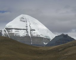 Mount Kailash, Tibet, Snow covering the summit