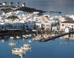 Mykonos, Greece, Cyclades Harbor