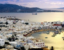 Mykonos, Greece, Harbor overview
