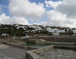 Mykonos, Greece, Houses far view