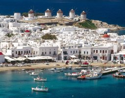 Mykonos, Greece, Cyclades Harbor 02