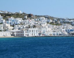 Mykonos, Greece, Houses on stepped terraces (2)