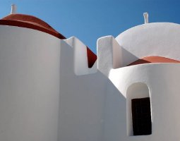 Mykonos, Greece, Church walls