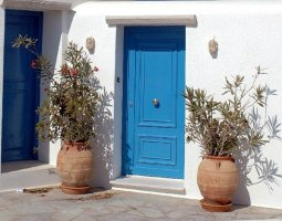 Mykonos, Greece, House door design