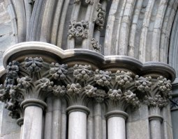 Nidaros Cathedral, Trondheim, Norway, Column architecture