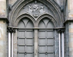 Nidaros Cathedral, Trondheim, Norway, Door
