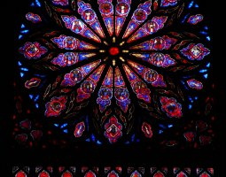 Nidaros Cathedral, Trondheim, Norway, Rose window inside view