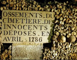 Paris Architecture, France, Memorial Plaque on The Catacombs