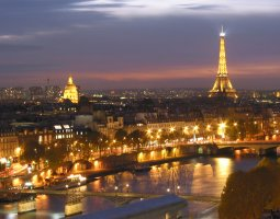 Paris Architecture, France, Night Overview