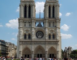 Paris Architecture, France, Notre Dame de Paris front view