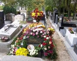 Paris Architecture, France, Edith Piaf Grave at Pere Lachaise Cemetery