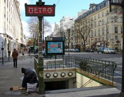 Paris Architecture, France, Metro Grands Boulevards