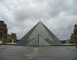 Paris Architecture, France, Great and Small Pyramid