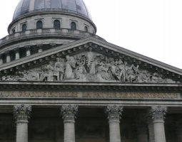Paris Architecture, France, The Pantheon facade detail