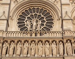 Paris Architecture, France, Notre Dame de Paris detail