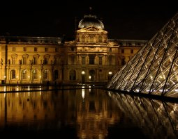Paris Architecture, France, Le Louvre by night