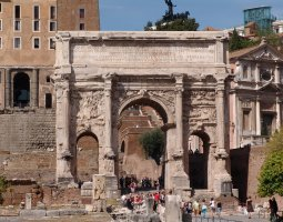 Rome Architecture, Italy, The Arch of Septimius Severus