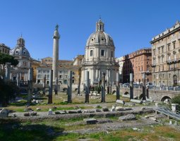 Rome Architecture, Italy, Trajan Forum overview
