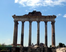 Rome Architecture, Italy, The Temple of Saturn