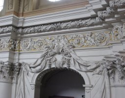 Saint Florian Abbey, Austria, Baroque architecture detail