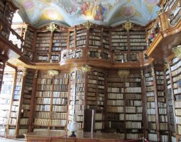 Saint Florian Abbey, Austria, Library view