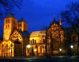 Saint Paulus Dom, Munster, Germany, At night