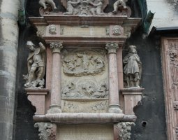 St Stephan Cathedral, Vienna, Austria, Outside relief with statues