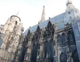 St Stephan Cathedral, Vienna, Austria, Side view panorama