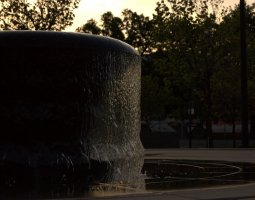 Salt Lake City, USA, Public Library fountain