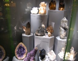 Senckenberg Museum, Frankfurt, Germany, Crystals exhibit