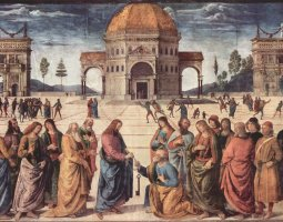 Sistine Chapel, Vatican, Pietro Perugino fresco, The giving of the keys to Saint Peter