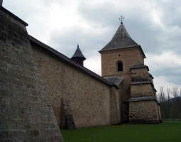 Sucevita Monastery, Romania, Walls outside view