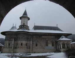 Sucevita Monastery, Romania, Under the snow