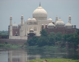 Taj Mahal, India, Mausoleum overlook