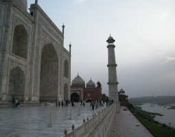 Taj Mahal, India, Mausoleum and Minaret
