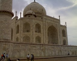 Taj Mahal, India, Mausoleum Side view