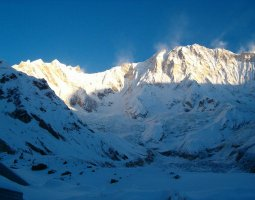Tallest Mountains, Annapurna, Nepal, Himalaya, Closeup face view