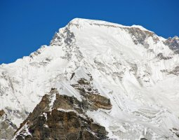 Tallest Mountains, Cho Oyu, Himalayas, Close Up From Kongma La