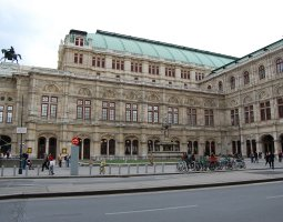 Vienna Architecture, Austria, Opera side view