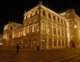 Vienna Architecture, Austria, Opera at night