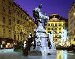 Vienna Architecture, Austria, Donnerbrunnen Fountain