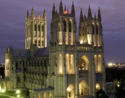 National Cathedral, Washington, U.S.A., Night view