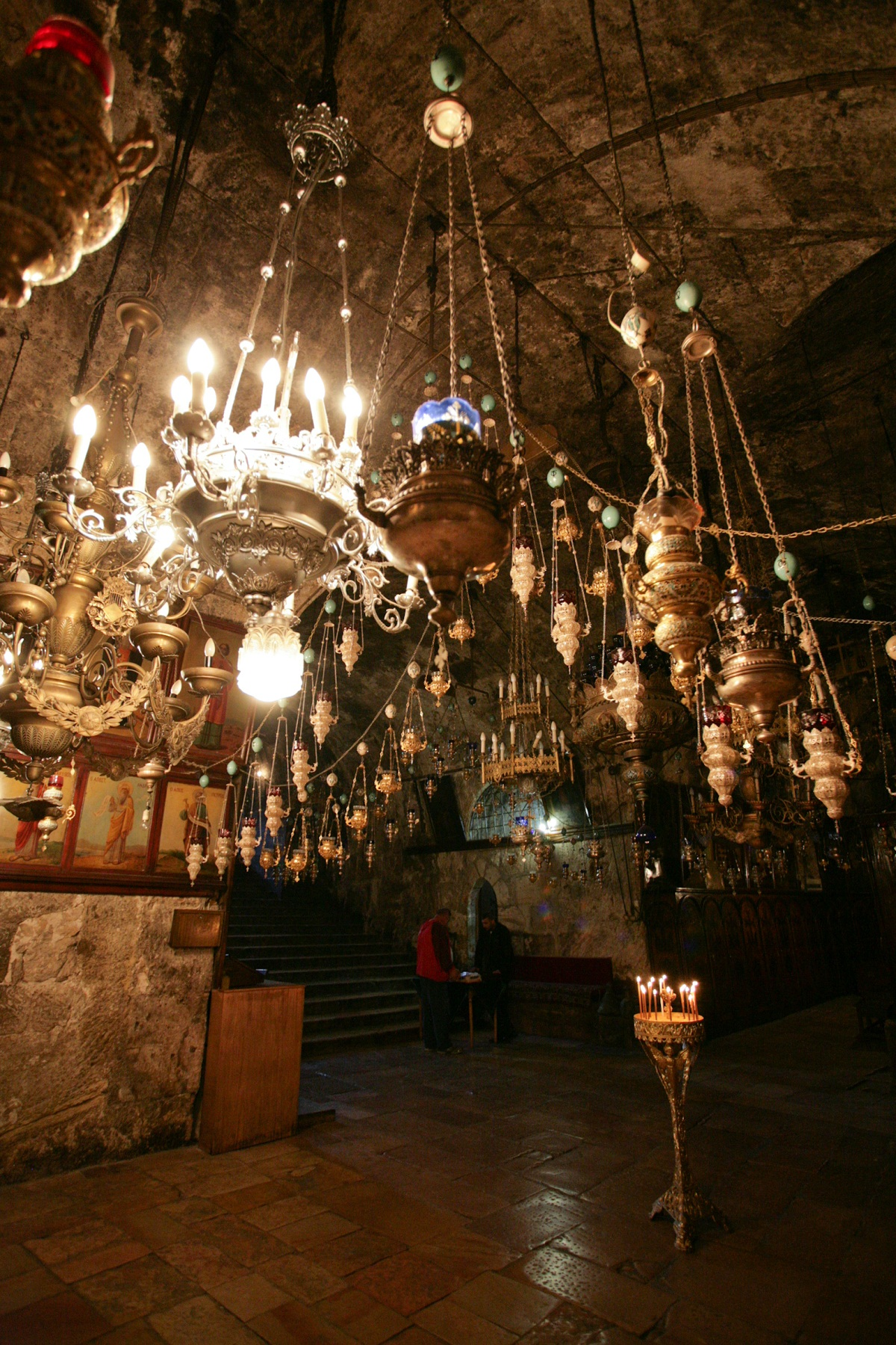 Tomb of the Virgin Mary, Jerusalem, Israel, Chandeliers