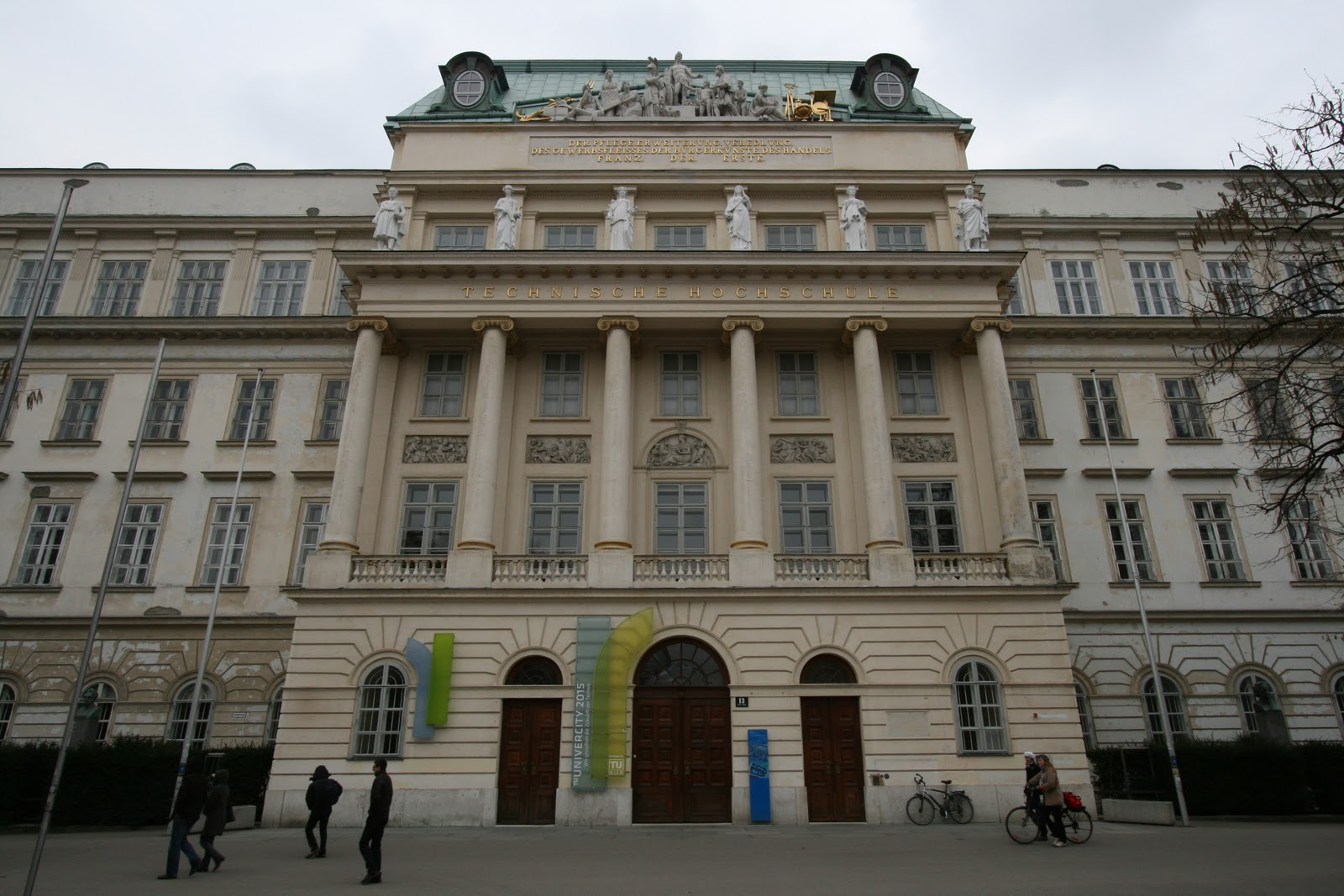 Vienna Architecture, Austria, Technical University of Vienna entrance