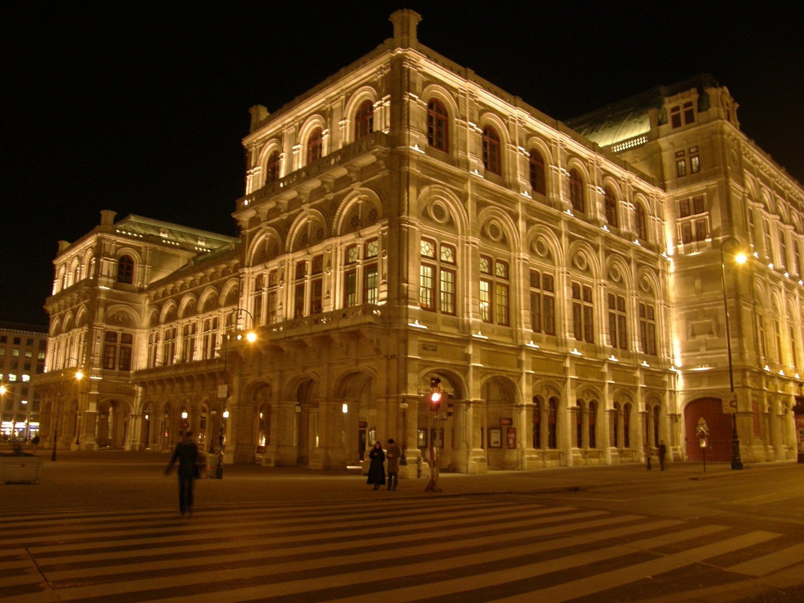 vienna architecture austria opera at night 452 world
